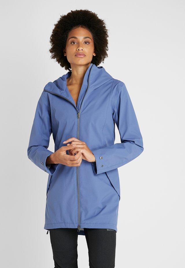 FOLKA WOMEN'S - Waterproof jacket - fjord blue