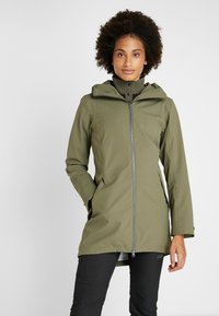 Didriksons - FOLKA WOMEN'S - Waterproof jacket - dusty olive - 0