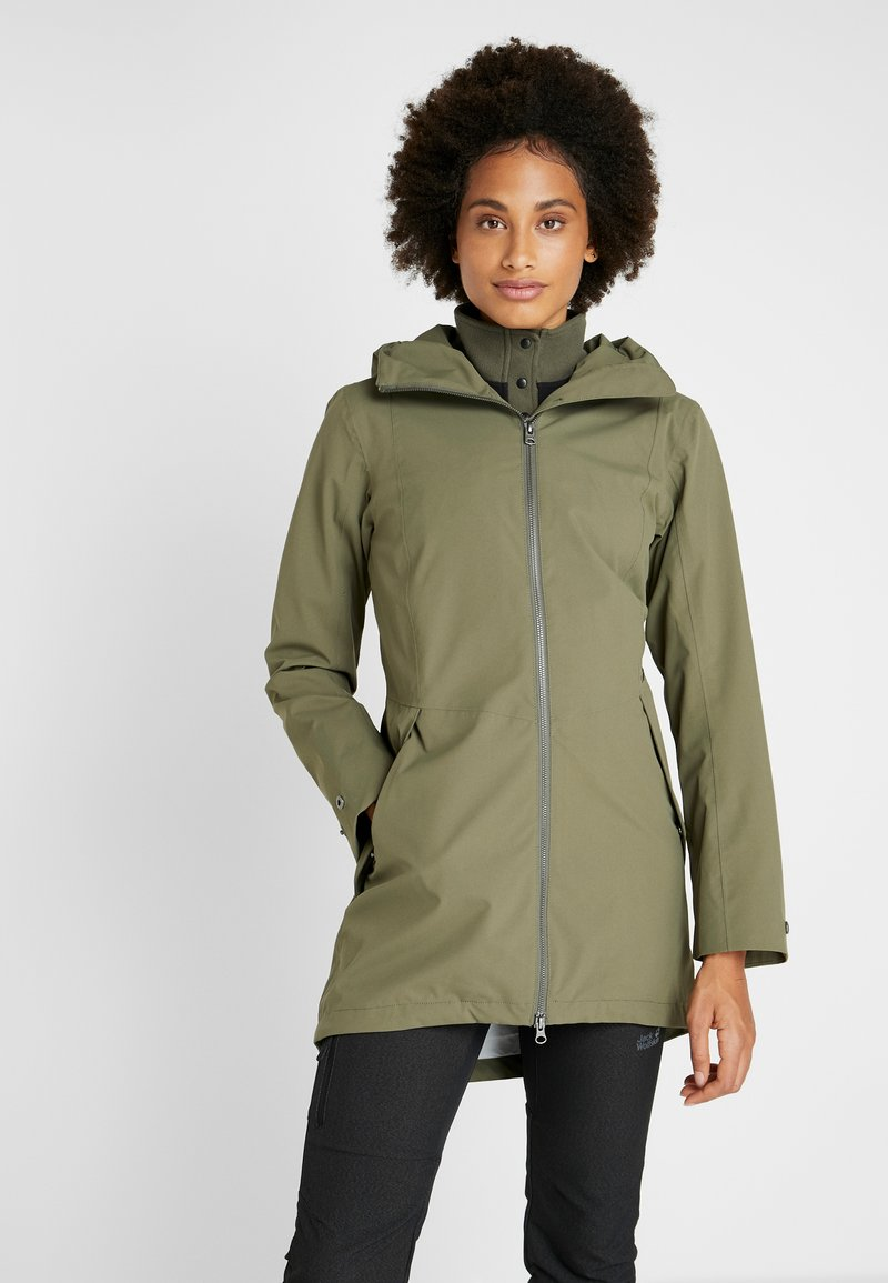 Didriksons - FOLKA WOMEN'S - Waterproof jacket - dusty olive