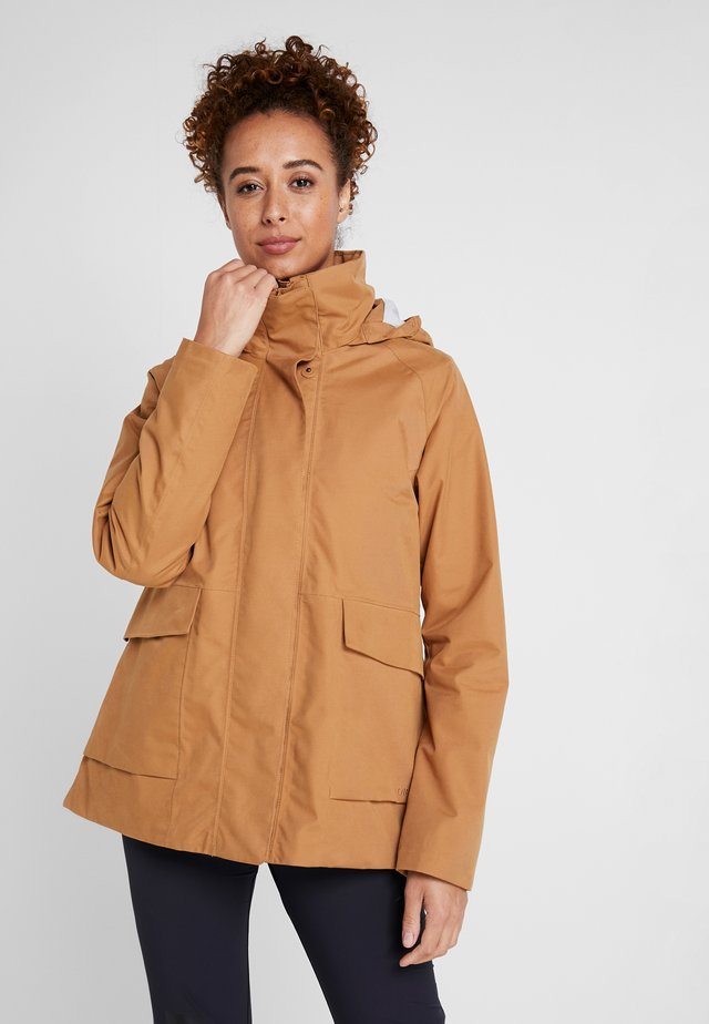 UNN WOMENS JACKET - Outdoorjacka - almond brown