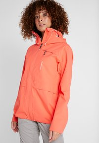 Didriksons - WIDA WOMENS JACKET - Hardshell jacket - coral red - 0
