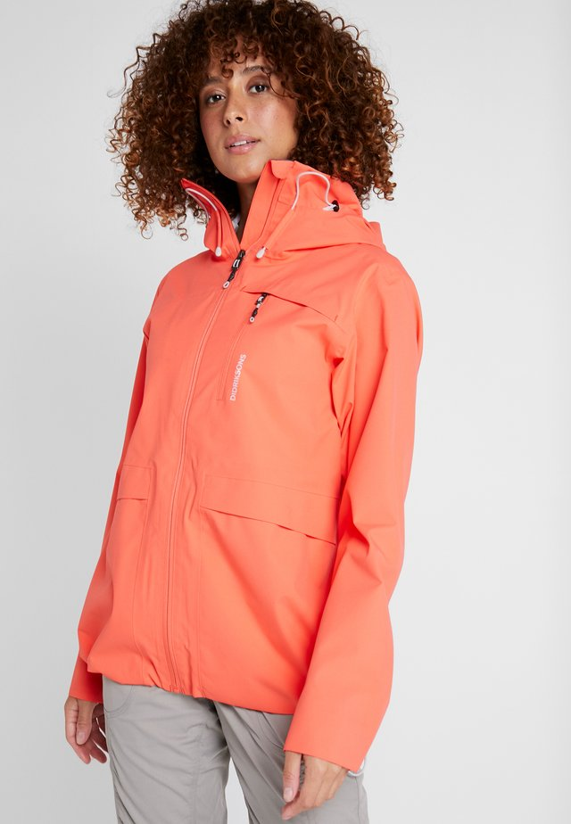 WIDA WOMENS JACKET - Hardshell jacket - coral red