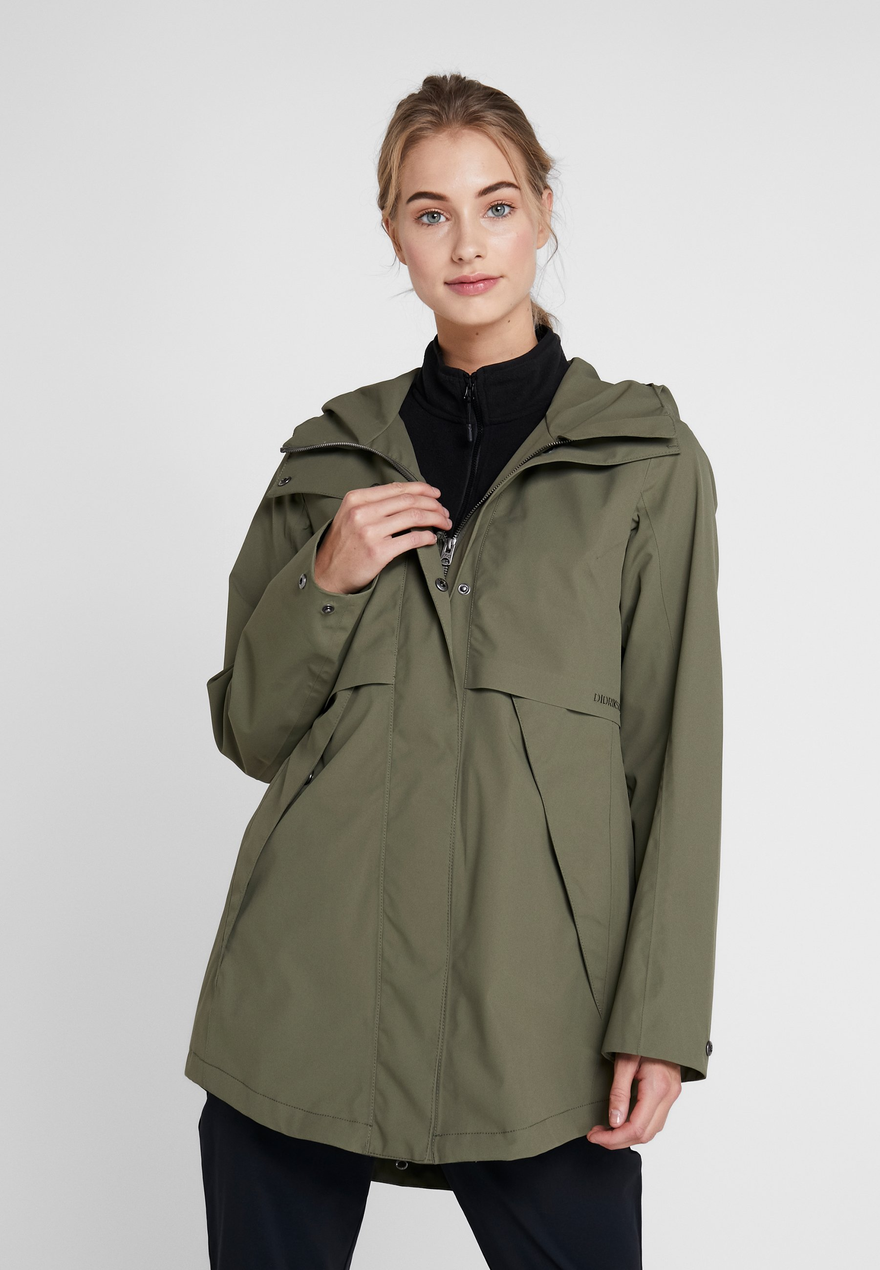 Didriksons Edith Women - Parka Dusty Olive 3CLxYc2