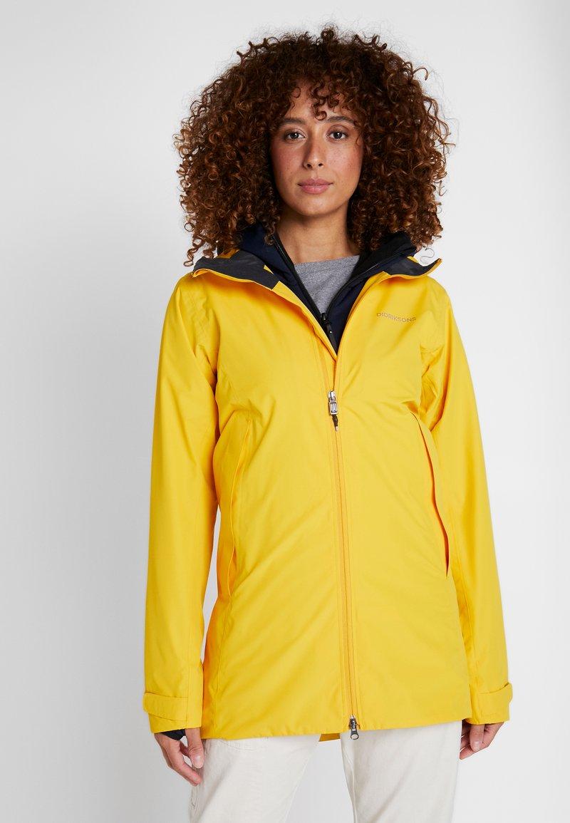 Didriksons - NOOR WOMENS - Waterproof jacket - oat yellow