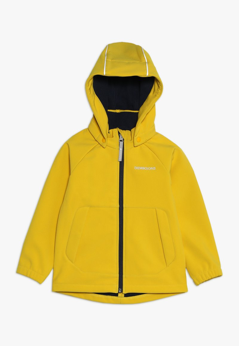 Didriksons - POGGIN KIDS JACKET - Soft shell jacket - oat yellow