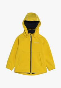 Didriksons - POGGIN KIDS JACKET - Soft shell jacket - oat yellow - 5