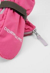 Didriksons - BIGGLES KIDS ZIP MITTENS - Manoplas - plastic pink - 3