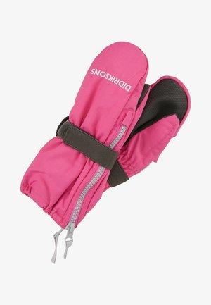 BIGGLES KIDS ZIP MITTENS - Mittens - plastic pink