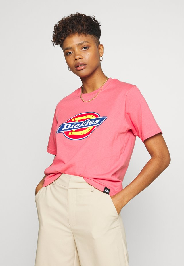 HORSESHOE TEE - T-shirt z nadrukiem - rose