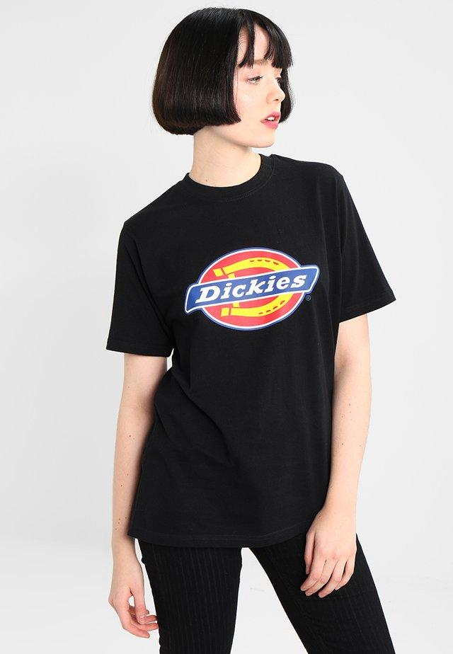 HORSESHOE TEE - T-shirt z nadrukiem - black