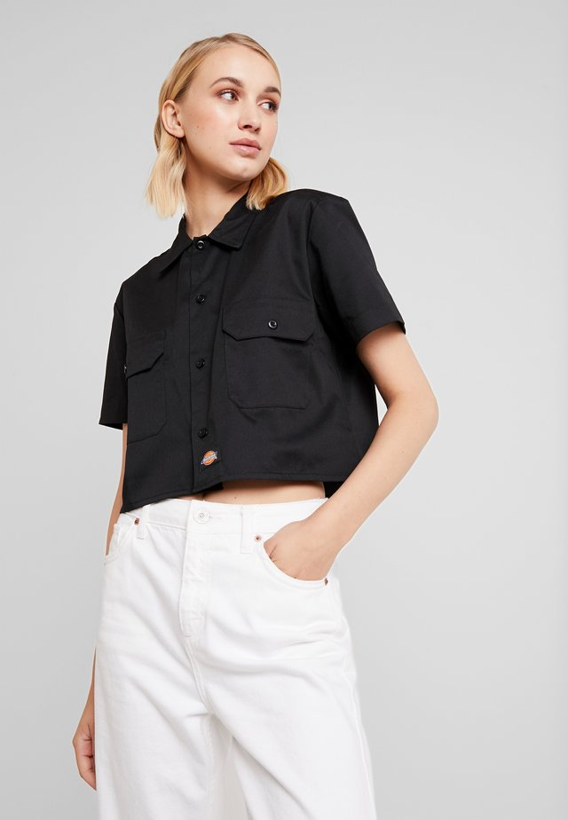 GROVE - Button-down blouse - black