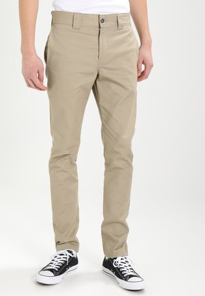 SLIM SKINNY WORK PANT - Chinos - british tan