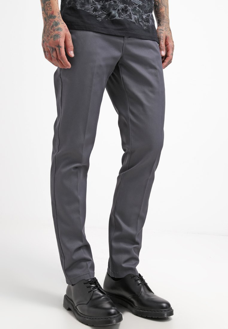 Dickies - 872 SLIM FIT WORK PANT - Chinosy - charcoal grey