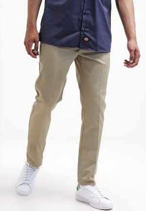 872 SLIM FIT WORK PANT - Chinosy - khaki