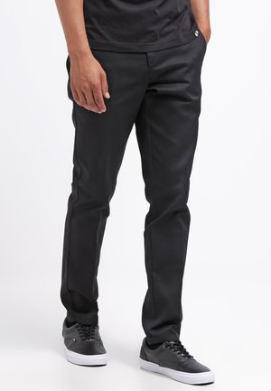 872 SLIM FIT WORK PANT - Chinosy - black