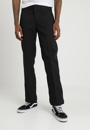 873 STRAIGHT WORK PANT - Tygbyxor - black