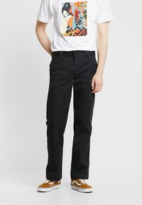 Dickies - 873 STRAIGHT WORK PANT - Pantalon classique - rinsed black - 0