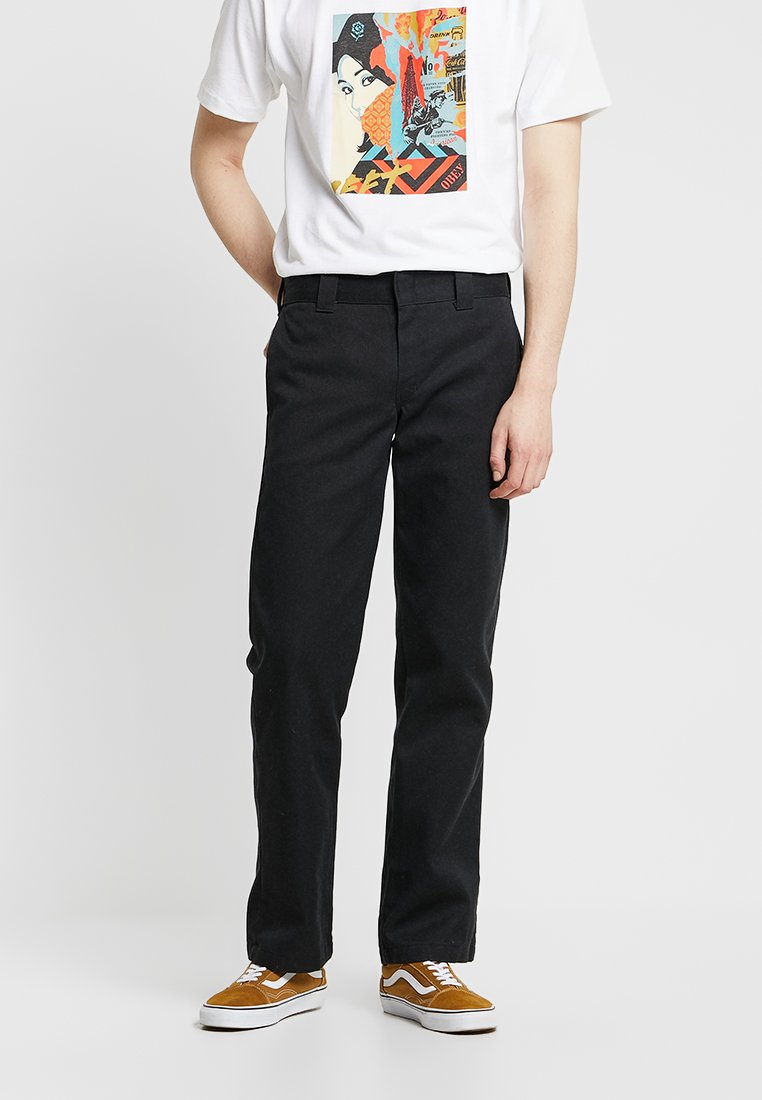 Dickies - 873 STRAIGHT WORK PANT - Pantalon classique - rinsed black