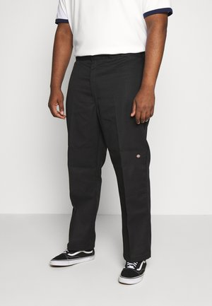 DOUBLE KNEE WORK PANT - Chinosy - black
