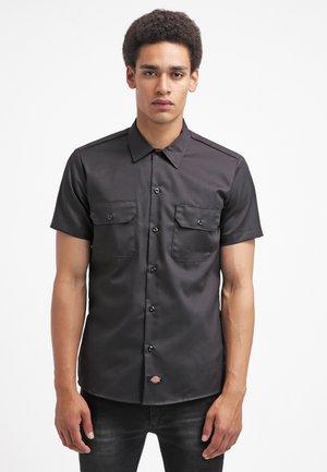 SHORT SLEEVE WORK - Overhemd - black