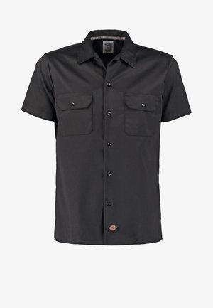 SHORT SLEEVE WORK - Camisa - black
