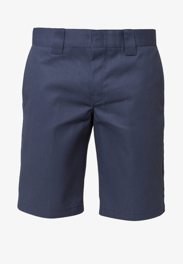 SLIM STRAIGHT WORK - Shorts - navy blue
