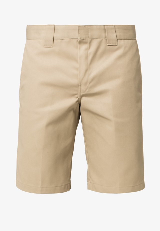 SLIM STRAIGHT WORK - Shorts - khaki