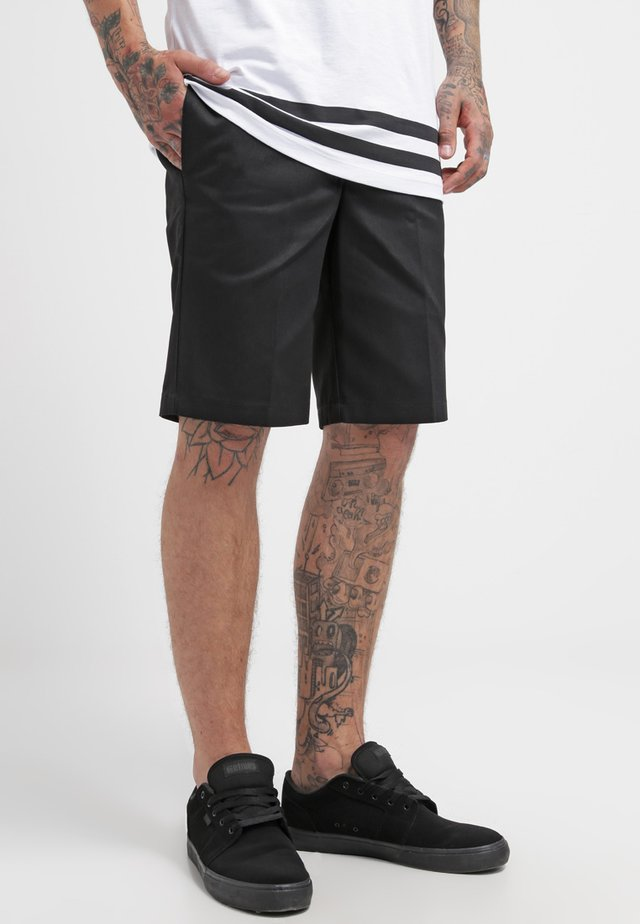 SLIM STRAIGHT WORK - Shorts - black