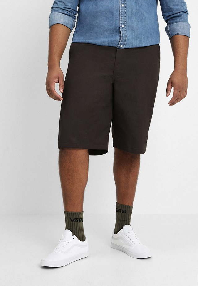 MULTI POCKET WORK - Shorts - dark brown