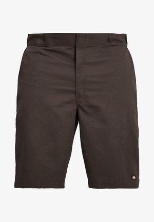 MULTI POCKET WORK - Short - dark brown