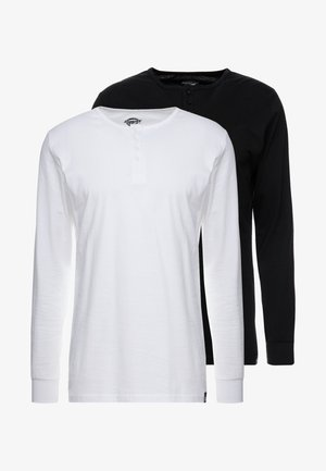 SEIBERT 2 PACK - T-shirt à manches longues - white/black