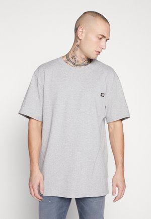PORTERDALE POCKET - Basic T-shirt - grey melange
