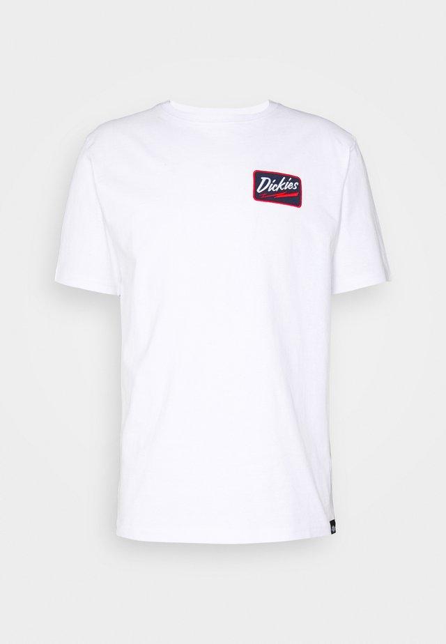 CAMPTI TEE - T-shirt print - white