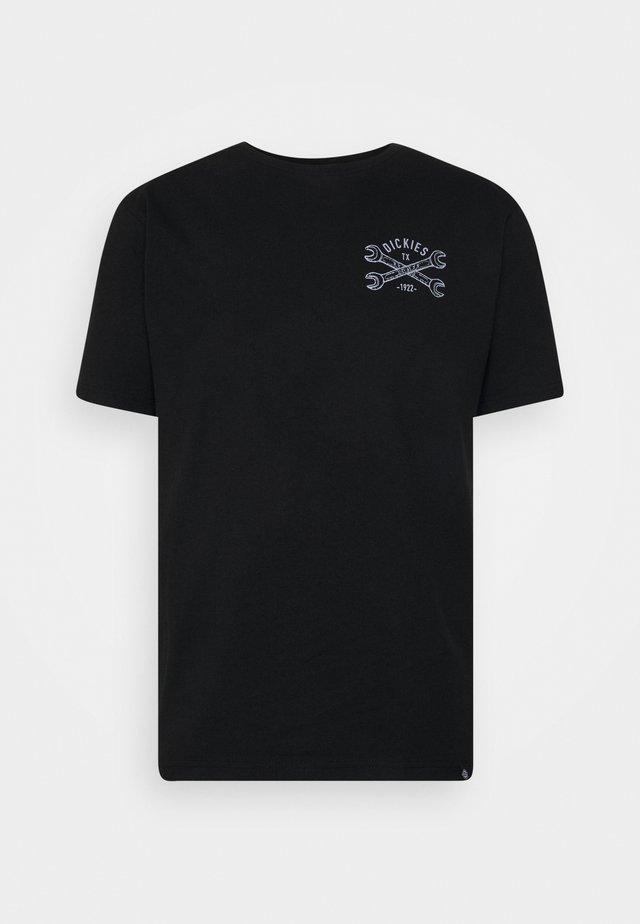SLIDELL - T-shirt med print - black