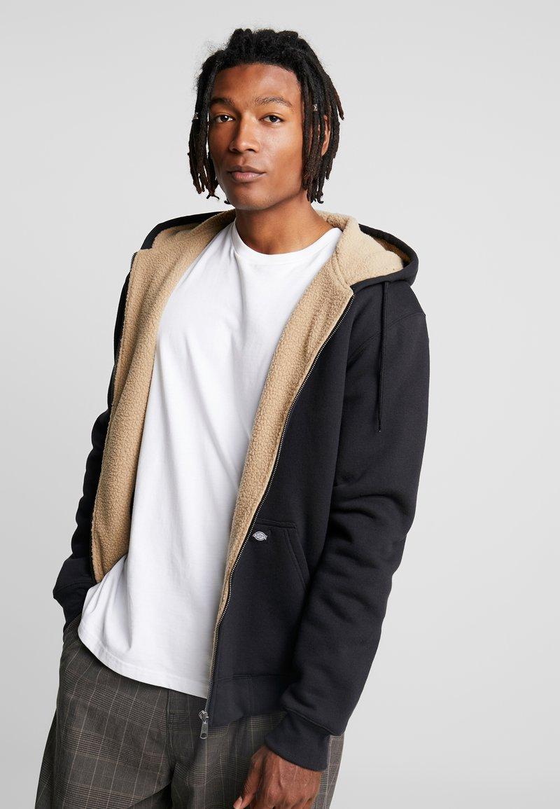 Dickies - FRENCHBURG - veste en sweat zippée - black