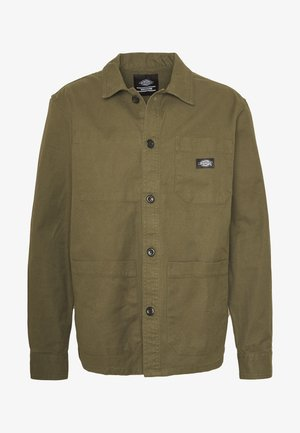 CAPROCK - Denim jacket - dark olive