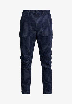 WOODLAND STRIPED PANT - Trousers - dark denim