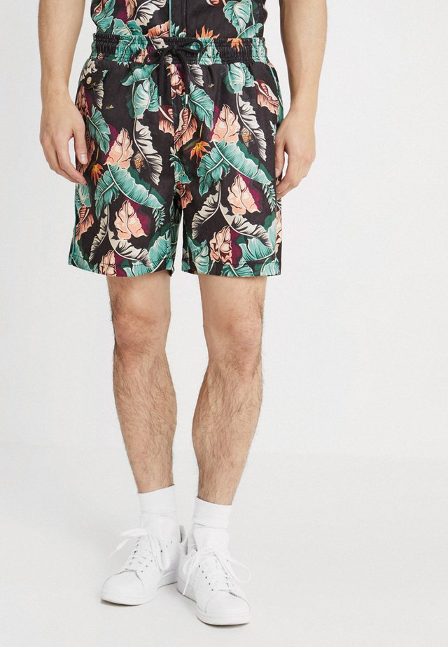 TROPICAL PARADISE - Shorts - black