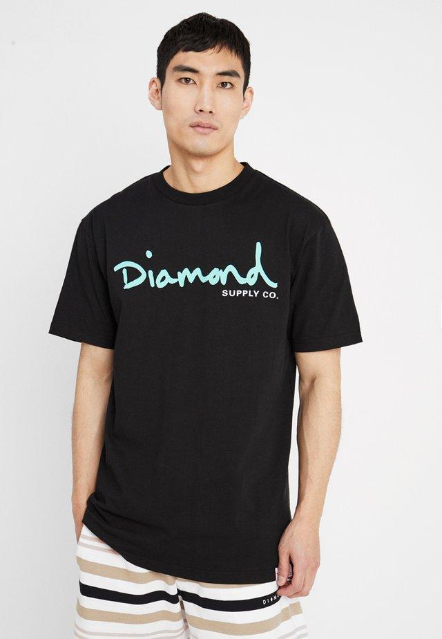SCRIPT TEE - T-Shirt print - black