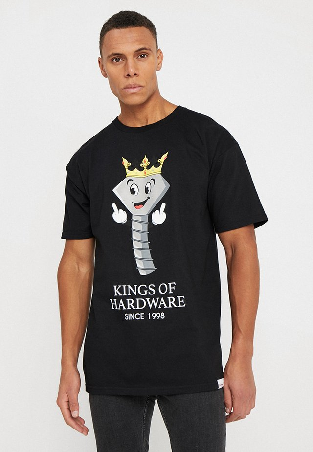 KINGS OF HARDWARE TEE - T-shirt med print - black