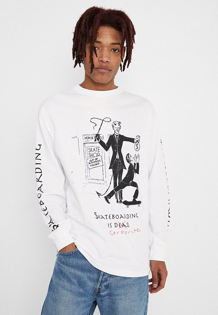 Diamond Supply Co. - SKATE CRIME TEE - Long sleeved top - white