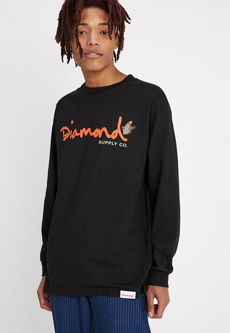 Diamond Supply Co. - PARADISE SCRIPT TEE - Long sleeved top - black