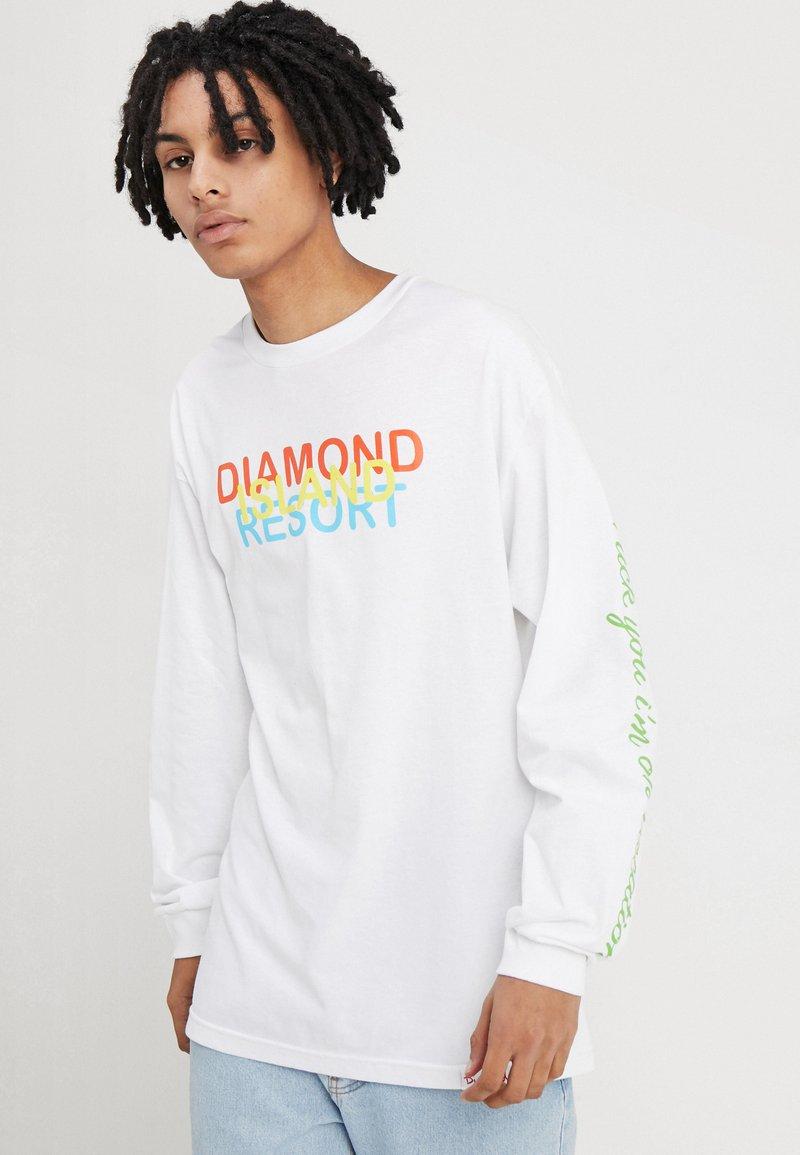 Diamond Supply Co. - RESORT LONG SLEEVE - Langærmede T-shirts - white