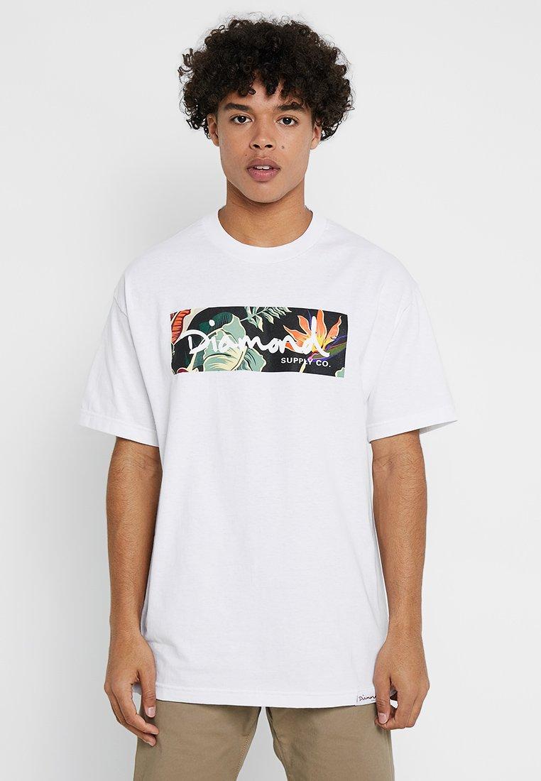 Diamond Supply Co. - PARADISE BOX LOGO TEE - Print T-shirt - white