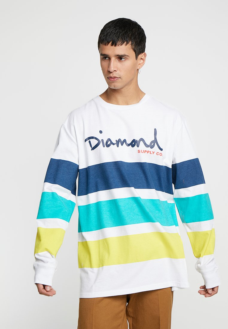 Diamond Supply Co. - SCRIPT STRIPED TEE - Long sleeved top - white