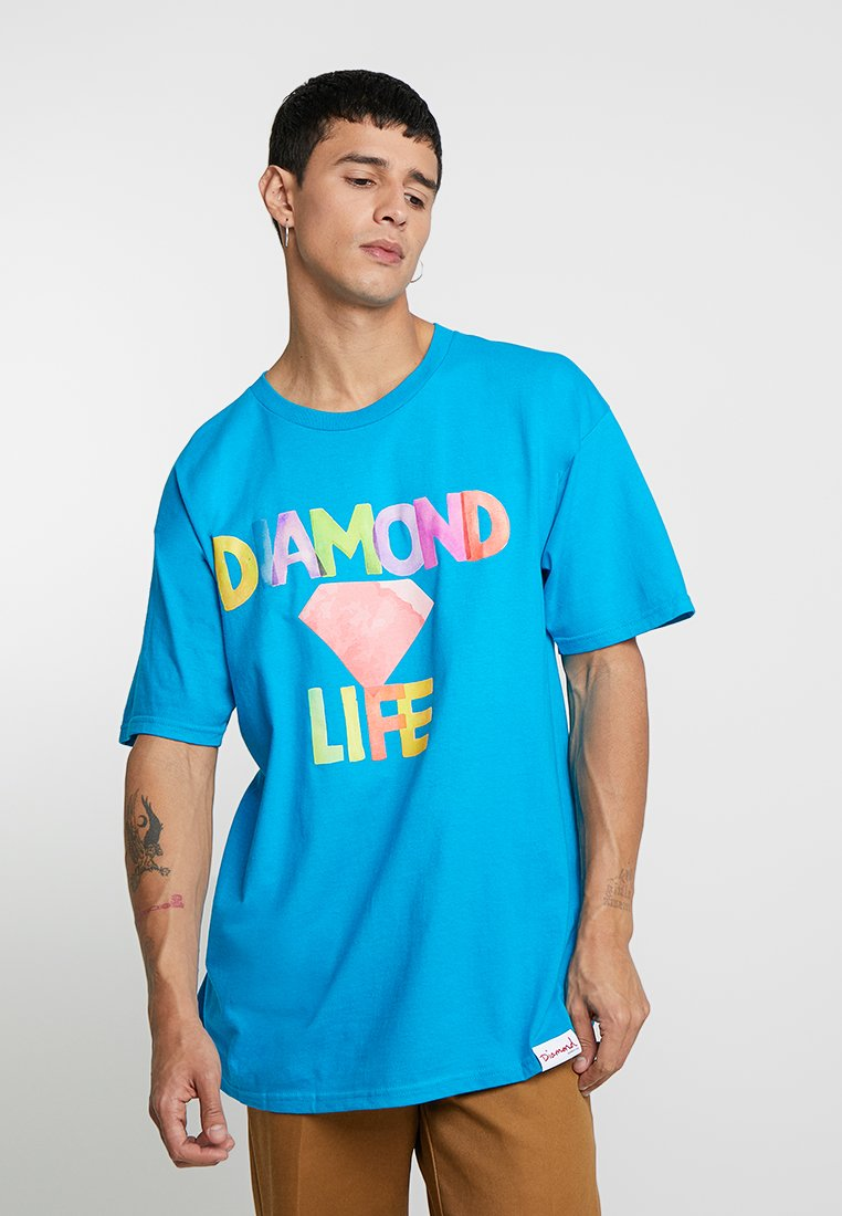 Diamond Supply Co. - WATERCOLOR - T-shirt con stampa - turquoise