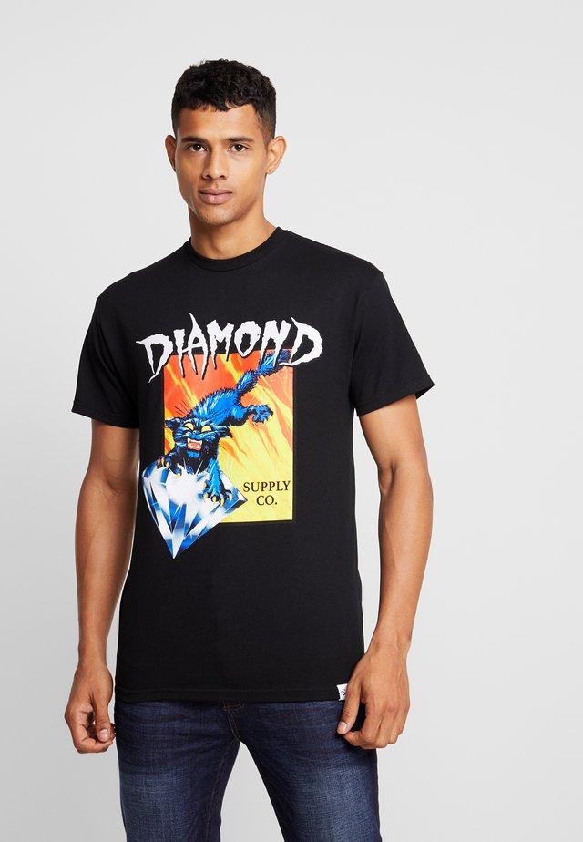 GREED - T-shirt imprimé - black