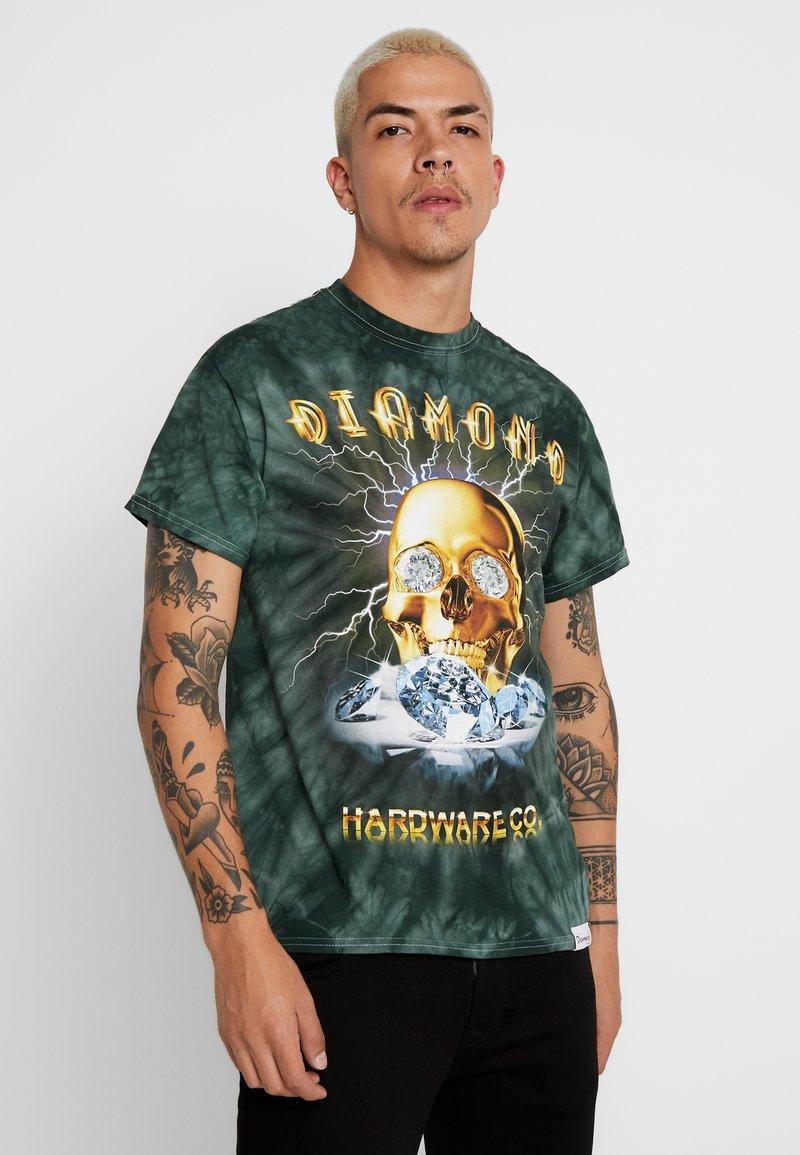 Diamond Supply Co. - GOLD SKULL TIE DYE - Triko spotiskem - green