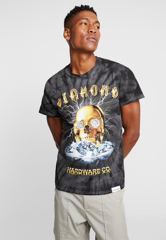 GOLD SKULL TIE DYE - T-shirts print - black