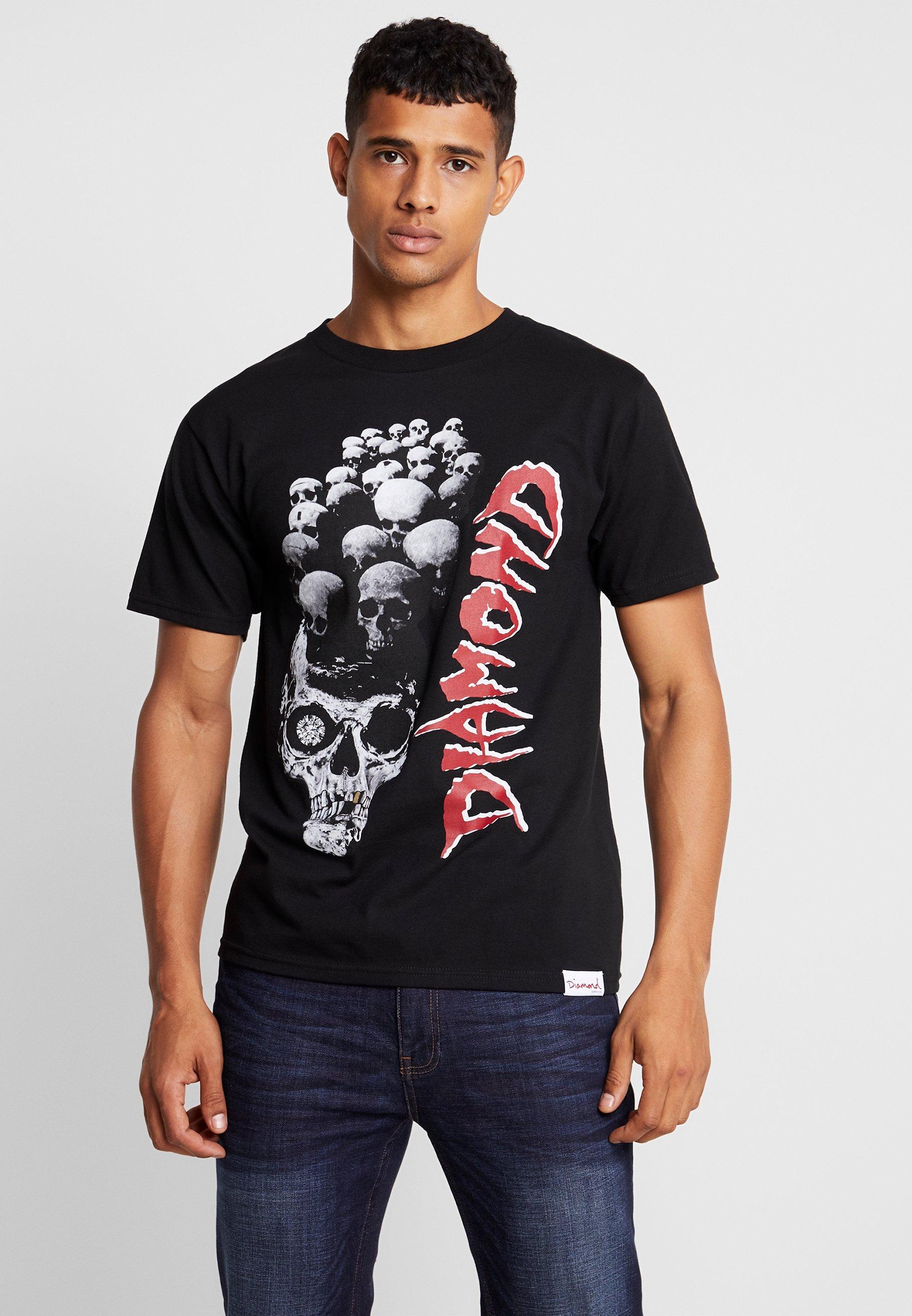 Supply Diamond Black shirt CoBurial GroundT Imprimé OXZiPuk